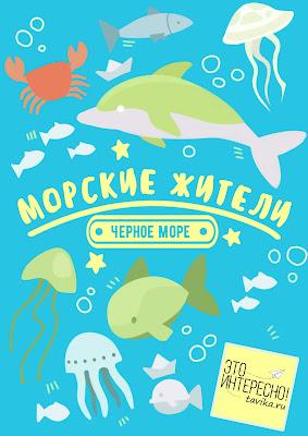 """Лэпбук """"Морские жители"""" об обитателях Черного моря"""