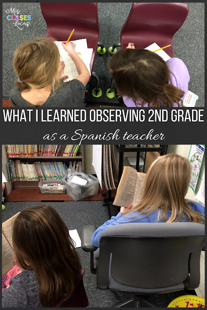 What I Learned Observing 2nd Grade Literacy