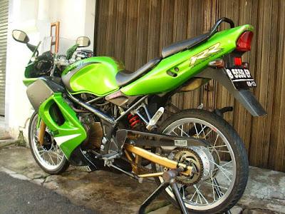 modifikasi motor ninja rr 2 tak  tahun ini
