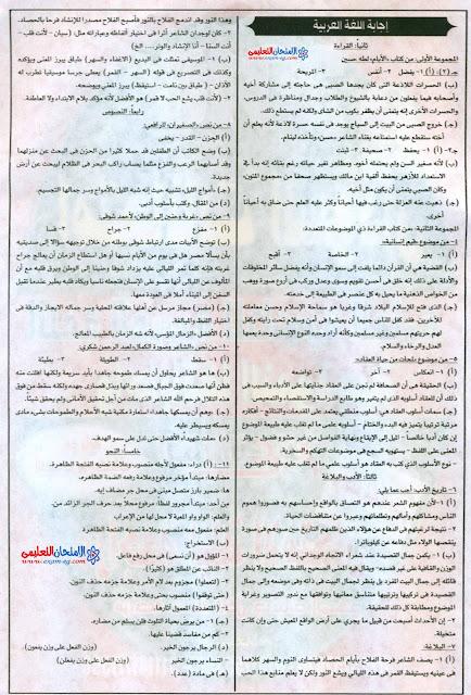 امتحان السودان 2016 فى اللغة العربية للثانوية العامة + الاجابة النموذجية