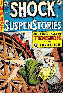 Shock Suspenstories v1 #13 ec comic book cover art by Jack Kamen