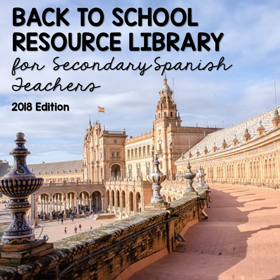 Spanish Back to School Resource Library - shared by Mis Clases Locas