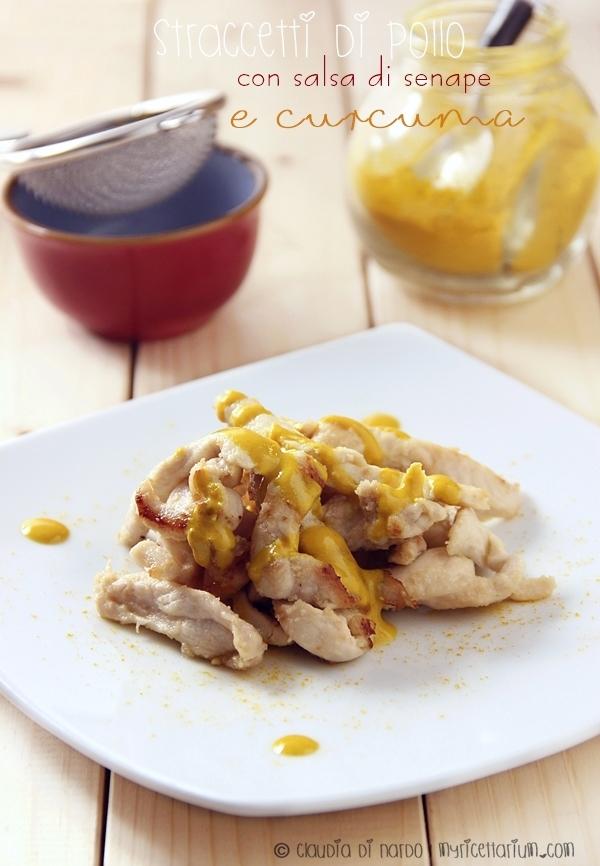 Straccetti di pollo con salsa di senape e curcuma
