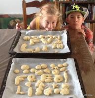 Making cookies with grandma