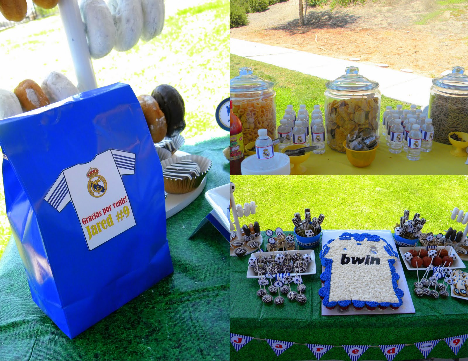 Mkr Creations Real Madrid Soccer Party Theme