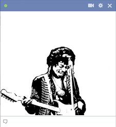 Jimi Hendrix Chat Emoticon