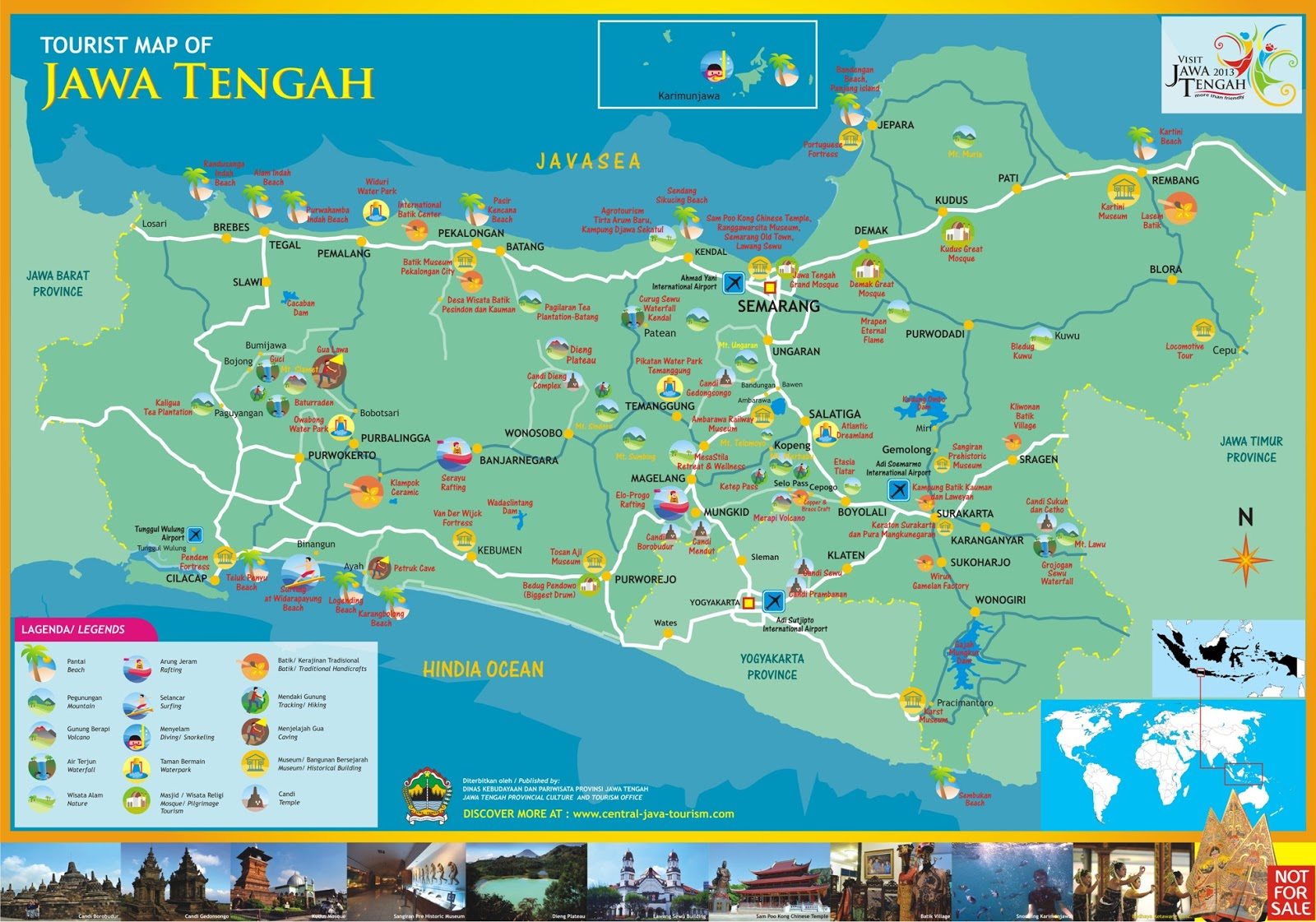 Peta Wisata Jawa Tengah ~ Pamboedi File's