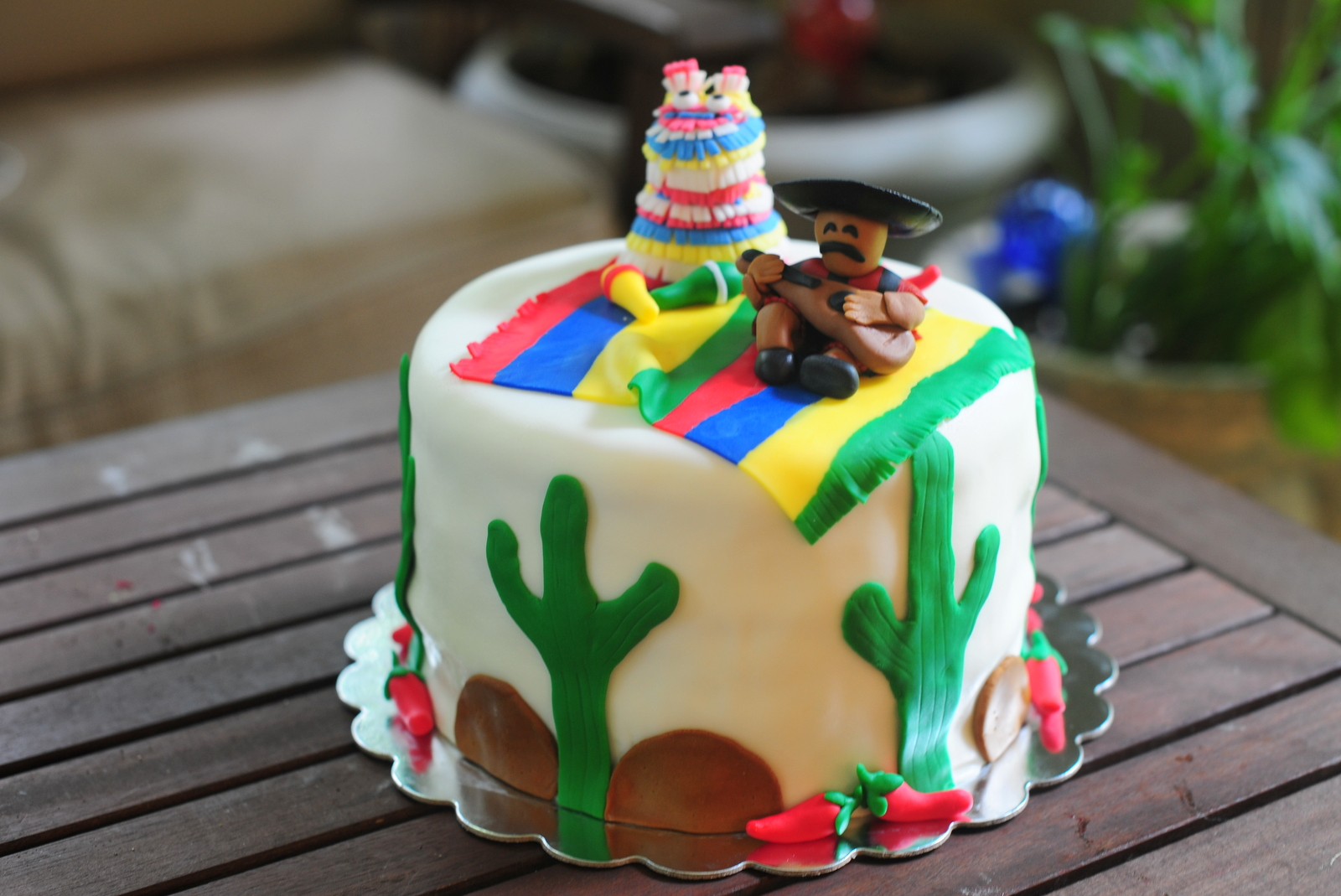 Leafy Tree Tops Cinco De Mayo Cake