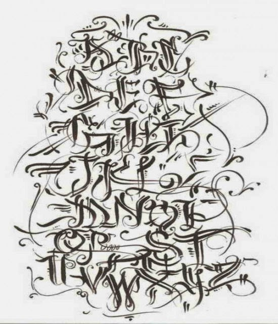Graffiti Wall: Graffiti Alphabet Letters A-Z Styles