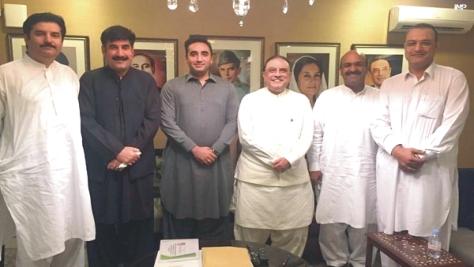 ch. nadeem afzal chan with asif ali zardari and bilawal bhutto zardai