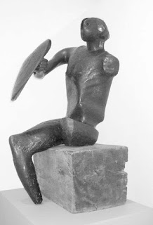 Moore, warrior with a shield, 1952