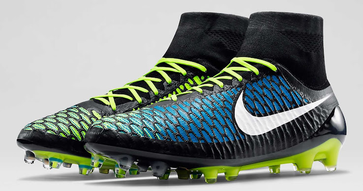 super popular 69792 81e1b The new Nike Magista Obra Black   Volt   Blue Football Boots were released  on February 1, 2015. For the seventh colorway of the Nike Magista Soccer  Cleat, ...
