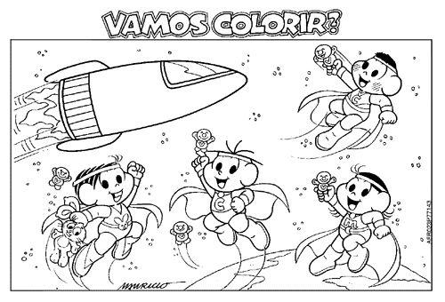 Desenhos Para Colorir Turma Da Monica 01 Atividades E Desenhos