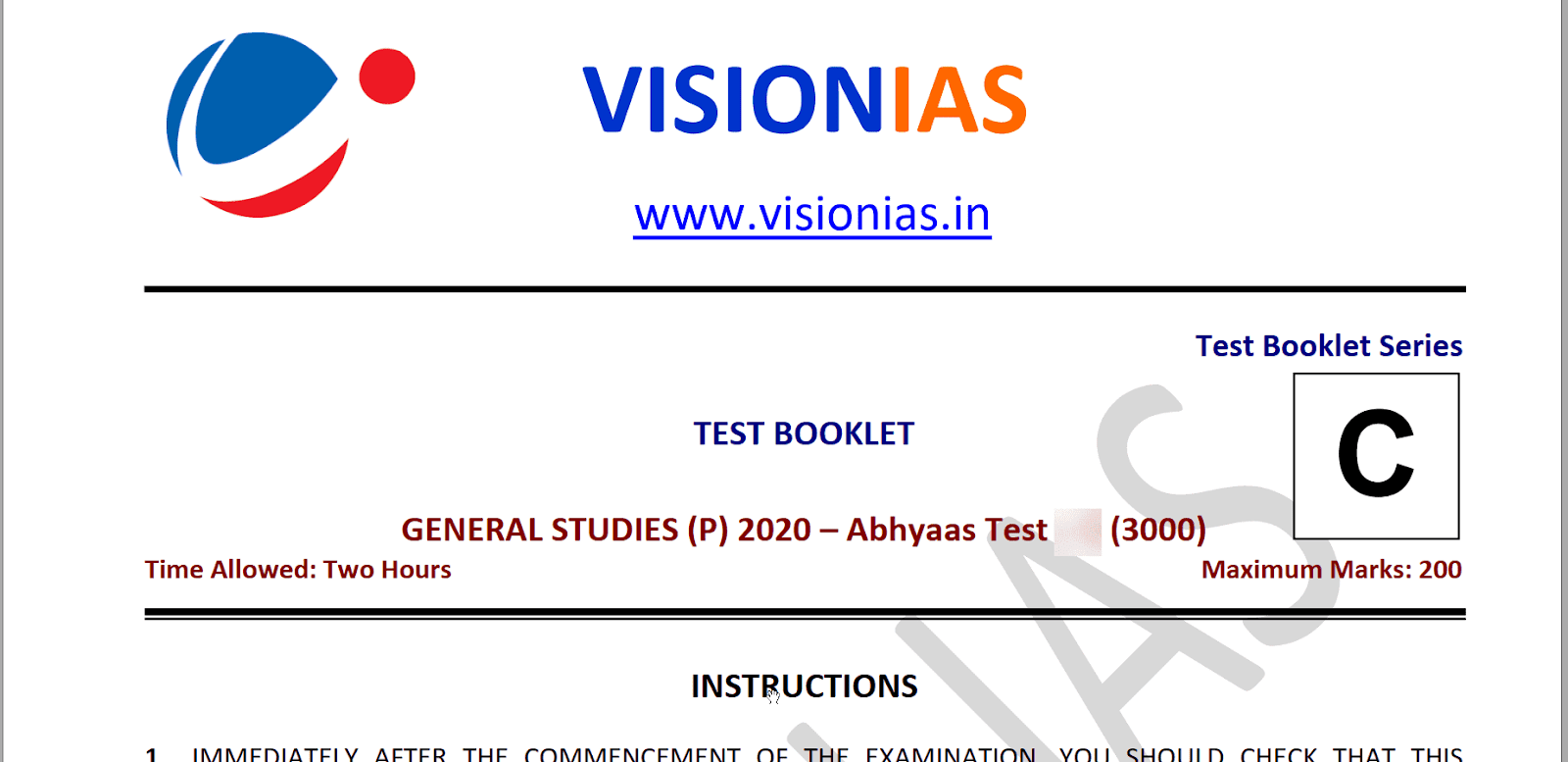 Vision IAS Mains Hindi Test Series