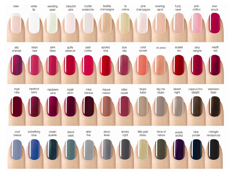 le vernis nail colour, le vernis longwear nail colour, le vernis velvet nail colour.