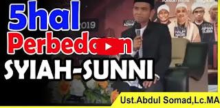 5 Perbedaan Syiah dan Sunni | Ust Abdul Somad, Lc Ma [Video]