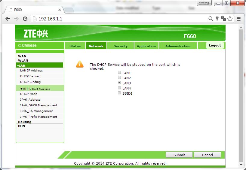 setting modem zte f609 let