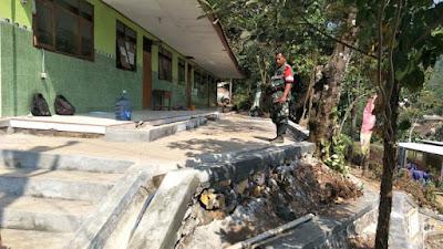 Satgas TMMD 102 Mojokerto Rampungkan Pembangunan TPT SDN Jembul