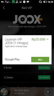 pembayaran joox vip