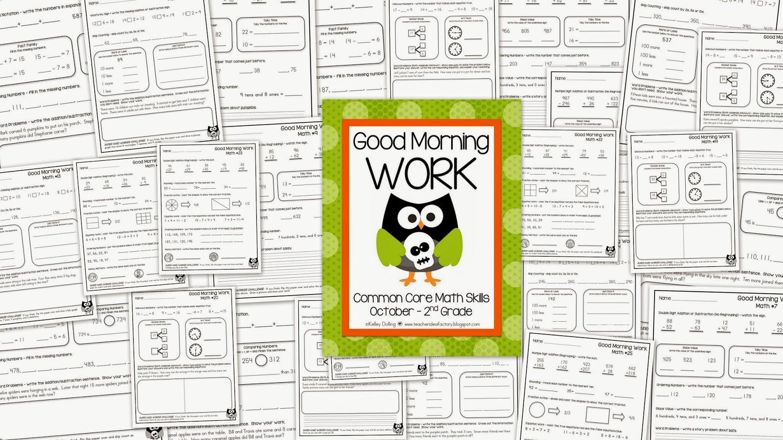 THE HAPS + MORNING WORK + IDEAS/FREEBIES - Teacher Idea Factory