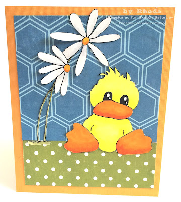 rhoda design studio card with digital stamp by rhoda