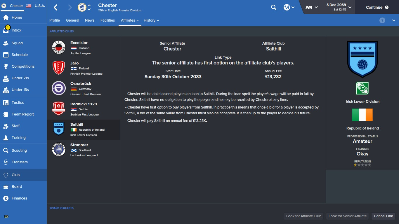 Feeder Clubs - Football Manager