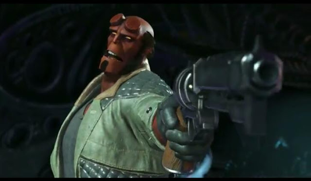 Second screenshot from Hellboy trailer~Injustice 2