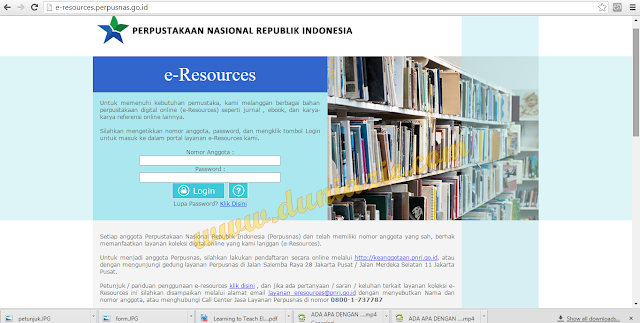 Cara Mudah Download Jurnal Internasional dari Website Perpustakaan Nasional RI