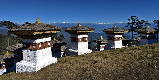 Dochula Pass 108 Memorial Chortens