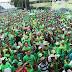Las calles de la Capital se vistieron de verde contra la impunidad y la corrupción