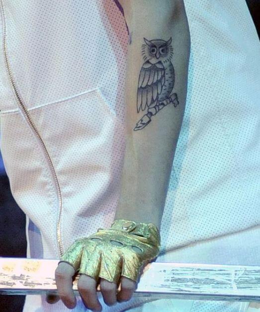 Justin Bieber Treble Clef Tattoo