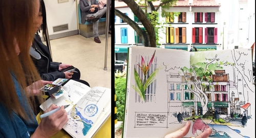 00-Alena-Kudriashova-Travelling-with-your-Sketchbook-Diary-www-designstack-co
