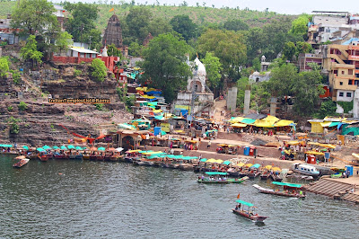 Omkareshwar on the banks of Narmada river