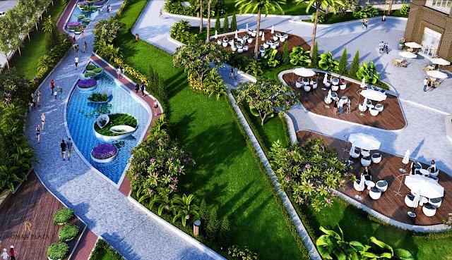 cảnh quan xanh tại dự án Roman Plaza