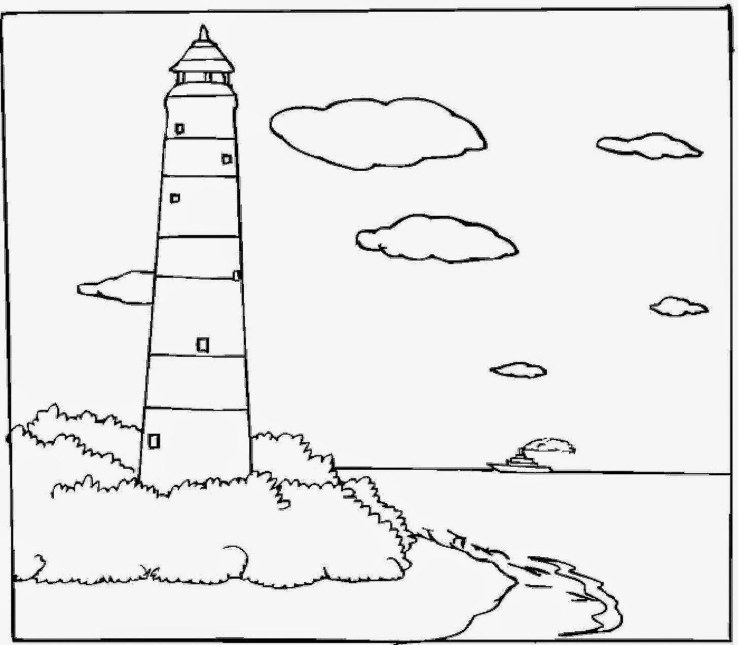 Free Coloring Sheet: Lighthouse Coloring Sheets