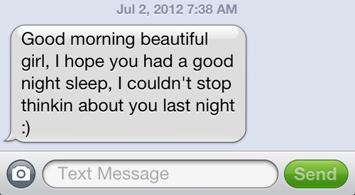 Nice text messages to send to a girl