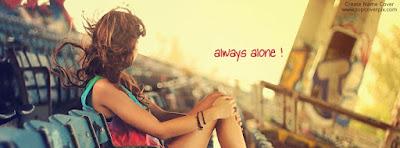 always alone - كفرات وأغلفة فيس بوك 2018