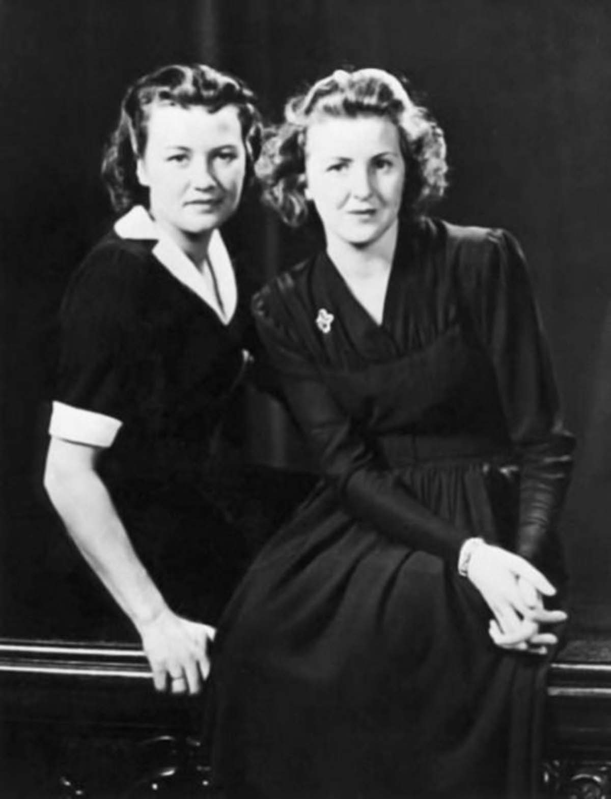 Herta Schneider and Eva Braun. An author who claims to have seen private documents asserts that Eva wrote at least two final letters from the bunker to Herta, who survived the war.