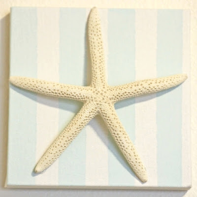starfish on canvas