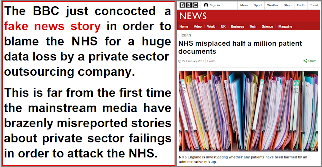 The BBC fake news headline about the NHS