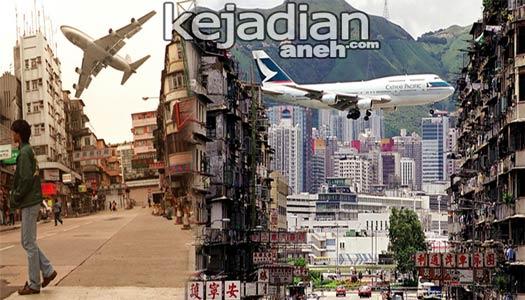 bandara Kai Tak%252C Hong Kong 13 Bandara Pesawat Paling Ekstrim dan Berbahaya