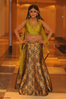 Sony Charishta in Green Choli Ghagra Transparent Chunni Ethnic Wear March 2017 007.JPG