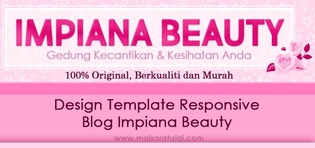 Design Template Responsive Blog Impiana Beauty