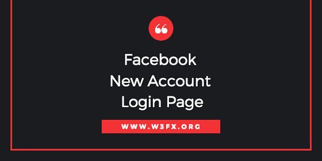 Facebook New Account Login Page