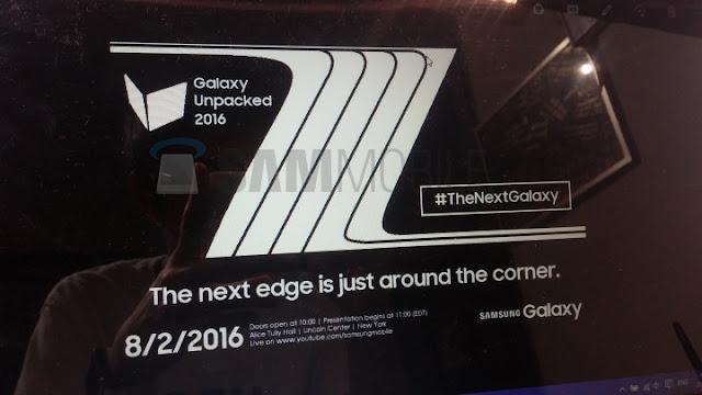 سامسونج تكشف عن Galaxy Note 7 في 2 أغسطس القادم