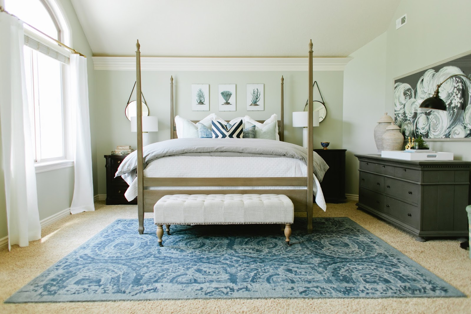 6th Street Design School : Soothing Blue & Gray Bedroom