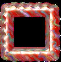 Moldura quadrada vermelha