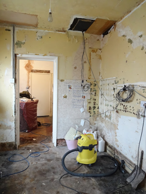 kitchen mid renovation
