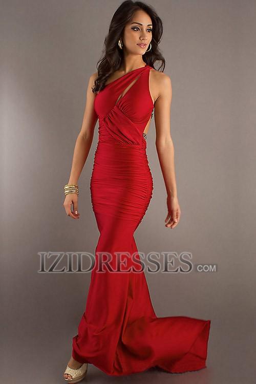 eab1e322de Motylek Czerwony  Sukienka na bal gimnazjalny dla puszystej