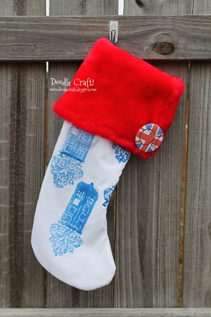 Doodlecraft Doctor Who Christmas Stockings